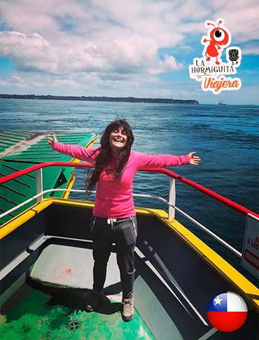 Cruce en transbordador desde Pargua hasta Chacao - Isla Chiloé - Enero 2018