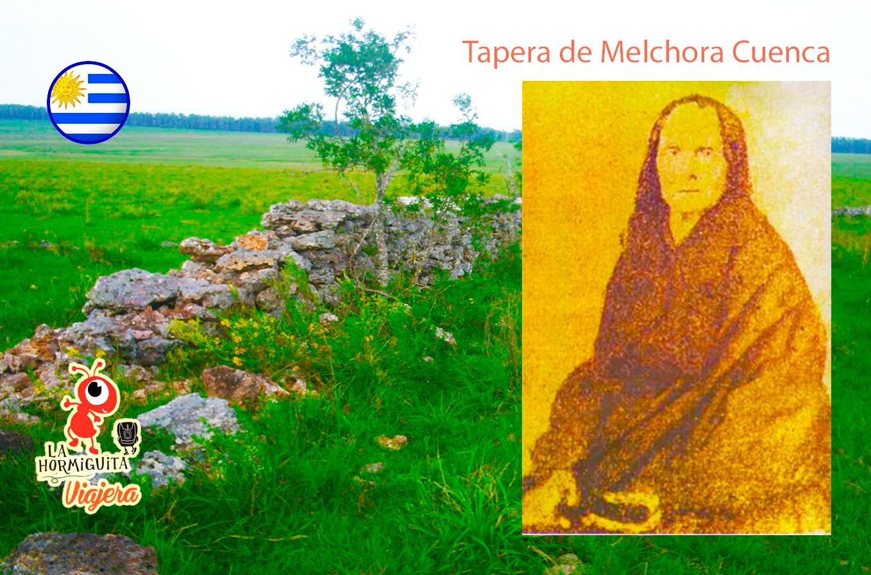 Tapera de Melchora Cuenca - Fuente: http://consejonacioncharrua.blogspot.com y https://rotafolio.wordpress.com