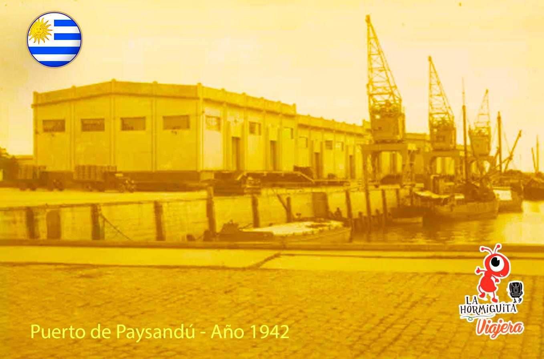 Puerto Paysandú - Año 19.42 - Fuente: www.mercadolibre.com.uy